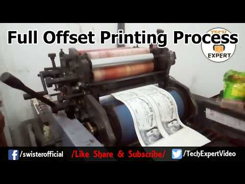 Live Offset Printing Process Starting To End - Print House Video