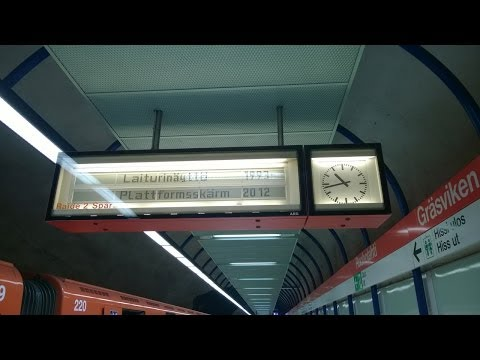 Helsinki Metro M200 goes to terminus sidetrack at Ruoholahti [FullHD]