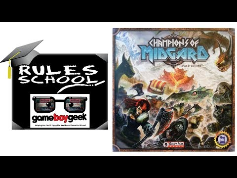 How to Play Champions of Midgard (Rules School) with the Game Boy Geek