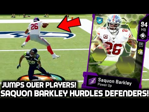 SAQUON BARKLEY HURDLES & JUKES EVERY DEFENDER! Madden 20 Ultimate Team