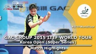 Korea Open 2015 Highlights: HAMAMOTO Yui vs MAEDA Miyu U21 (FINAL)