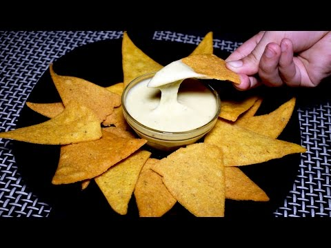 Nacho Chips Recipe With Cheese Dip Sauce - Corn Tortilla Chips - Homemade Nachos Recipe