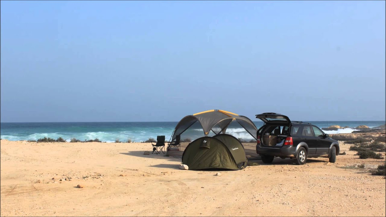 Oman Camping On Fins Beach November 2014 Youtube