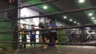 Kick boxing training - basic kickboxing