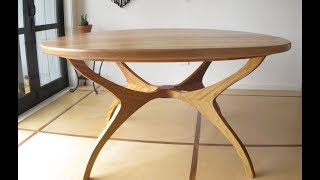 I make my dining table from red Oak and Iroko i copied the design b...