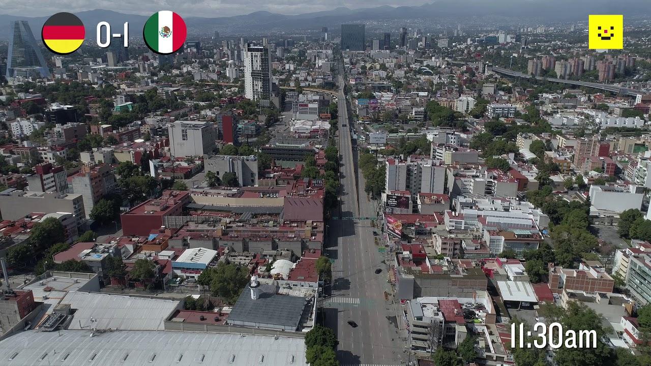 fcc85a3a722f 17 de Junio  así se vio la Ciudad de México durante el México-Alemania