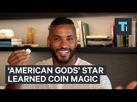 How the star of 'American Gods' learned coin magic for the show