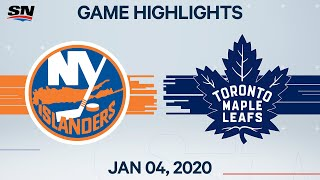 NHL Highlights   Islanders vs Maple Leafs - Jan. 04, 2020