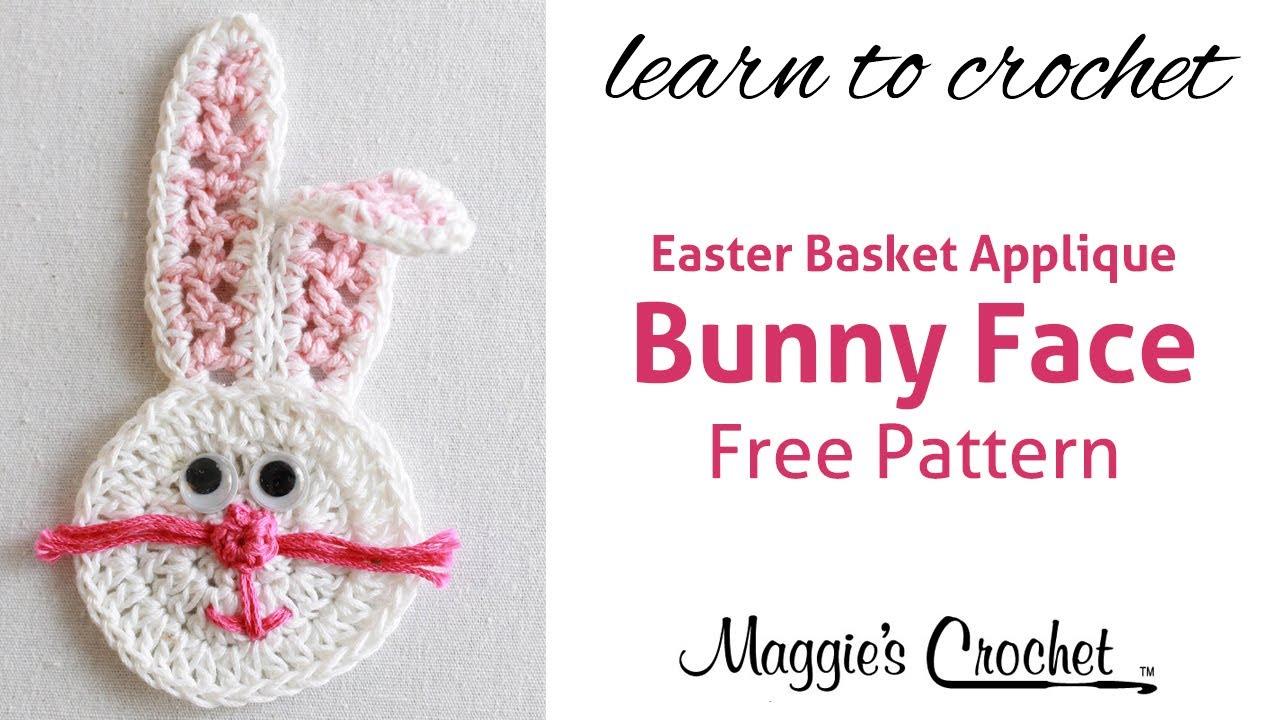 Easter bunny face applique free crochet pattern right handed easter bunny face applique free crochet pattern right handed youtube bankloansurffo Gallery