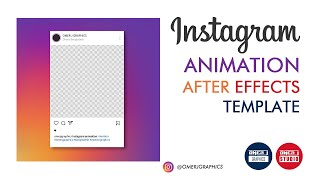 Instagram Animation After Effects Template | FREE Motion Graphics | OMER J GRAPHICS | OMER J STUDIO