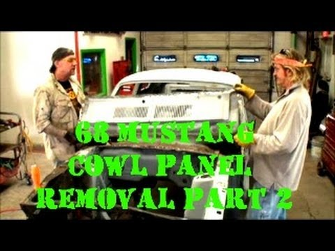 1968 Mustang GT-RUST AND ROT REPAIR-Cowl Panel-Part 2