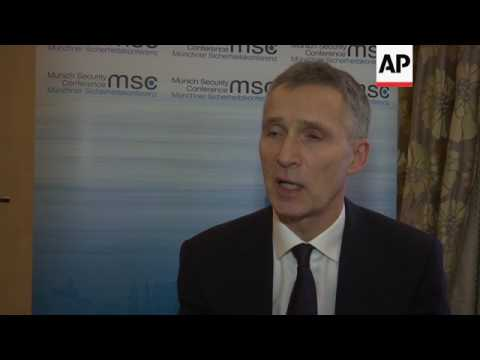 Stoltenberg on NATO's relevance, Russia, aid