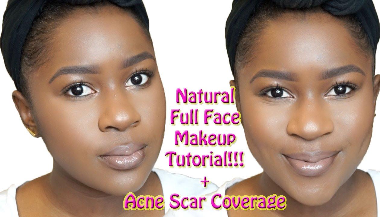 Natural Full Face Makeup Tutorial for Brown Skin+ACNE SCAR ...