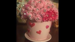 Manualidades Con Yvonne , Taza Con Flores  🌸☕️🌺☕️🌸