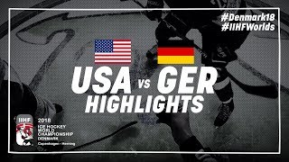 Game Highlights: United States vs Germany May 7 2018 | #IIHFWorlds 2018