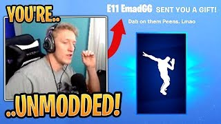 Tfue Reacts to His New *GIFTED* Infinite Dab Emote! - Fortnite Best and Funny Moments