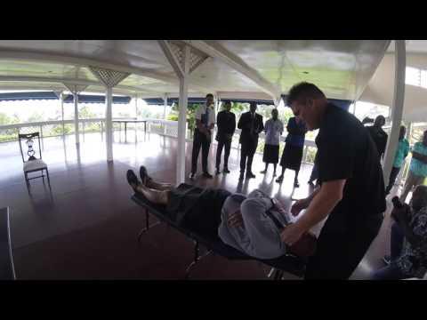 Fiji President Gets Chiropractic Adjustment