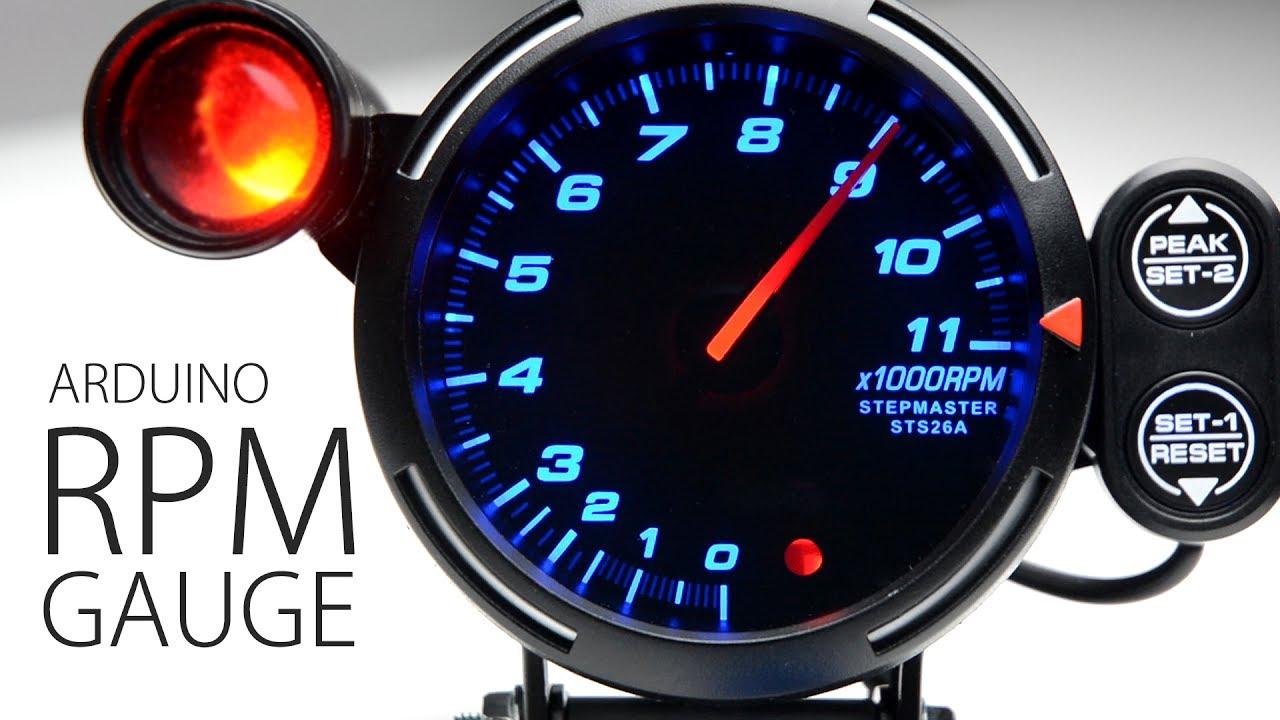 tachometer wiring diagram iota i32 emergency ballast diy arduino rpm tacho sim hub dash - youtube
