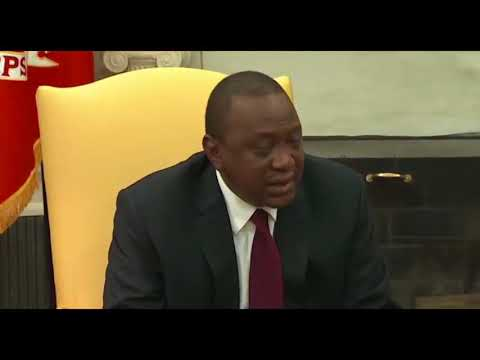 President Uhuru Kenyatta meets Donald Trump at the White House