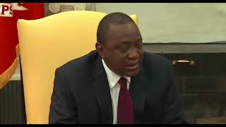 President Uhuru Kenyatta meets Donald Trump at the White House