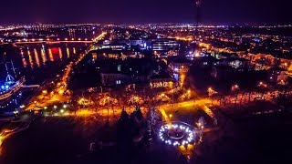 Великий Новгород зимой с высоты птичьего полета