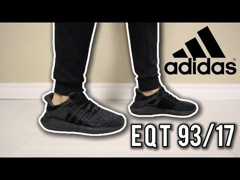 0ab39b5d18f5 Adidas EQT 93 17 Triple Black