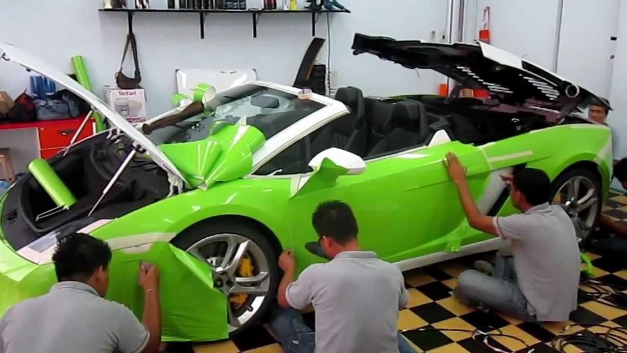 glossy green lamborghini gallardo lp560 4 spyder wwwtonywrapcom 1 - Lamborghini Gallardo Spyder Green