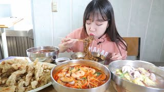 Tong Young Ep. 2! Spicy Seafood Noodles Mukbang! Only Opens for 5 Hours! Korean Eating Show