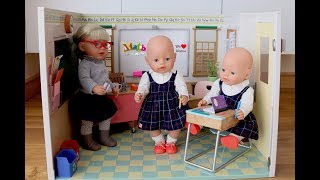 Baby Born Our Generation  Baby Dolls School Classroom Unboxing Set Up and Play