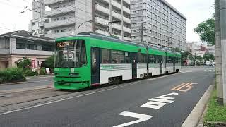 広島電鉄3950形3952号『GreenLiner』観音町〜西観音町