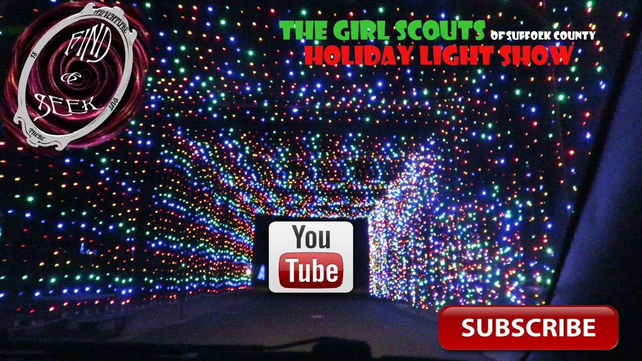 girl scouts of suffolk county holiday light show   youtube
