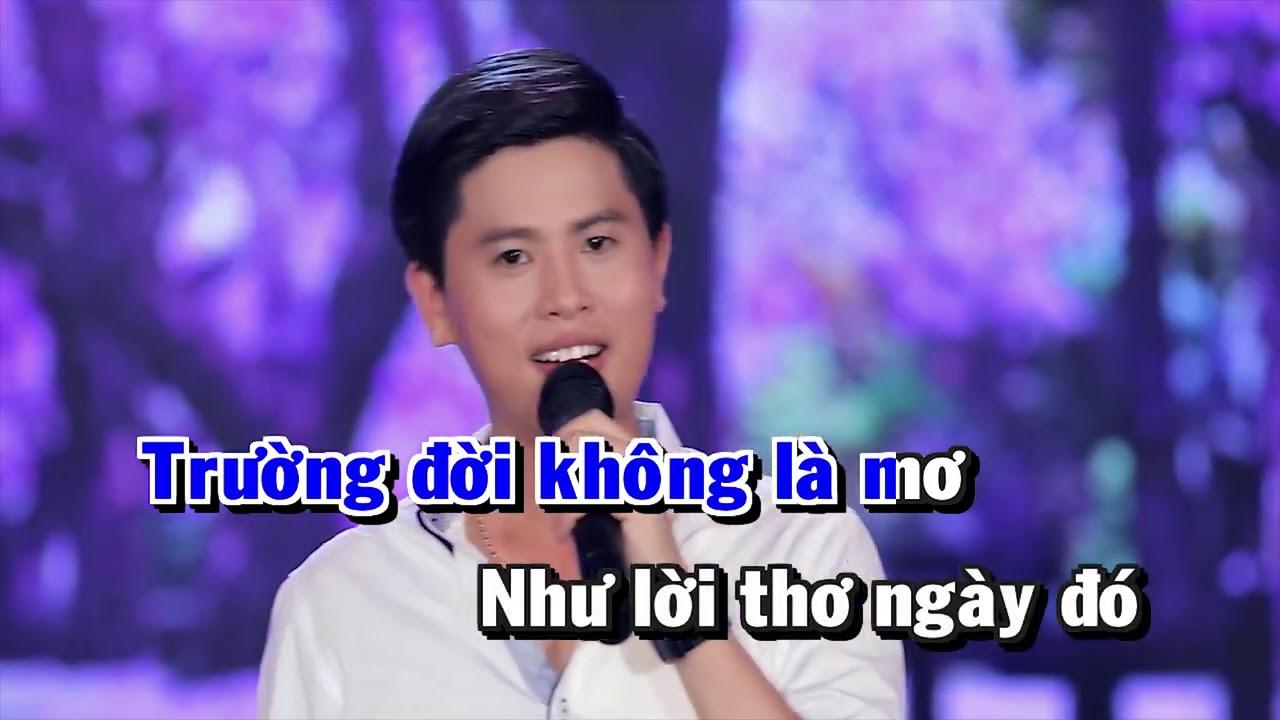 Karaoke - ĐƯỜNG TÍM BẰNG LĂNG - Nguyễn Thành Viên || Beat Chuẩn