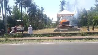 Prosesi Bakar Mayat (Ngaben) Tradisi Ummat Hindu Bali