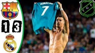 Барселона Реал Мадрид 1-3 Обзор HD Суперкубок Испании 1й матч 14 08 2017