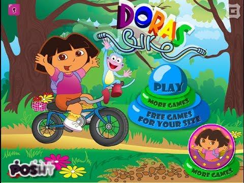 Dora The Explorer - Dora's Bike Game - Dora Games - YouTube