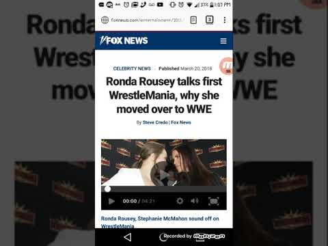 Ronda Rousey Talk First Wrestlemania And Move To WWE!