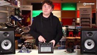 Unboxing de Novation Circuit, caja de ritmos y sintetizador, en Microfusa Madrid