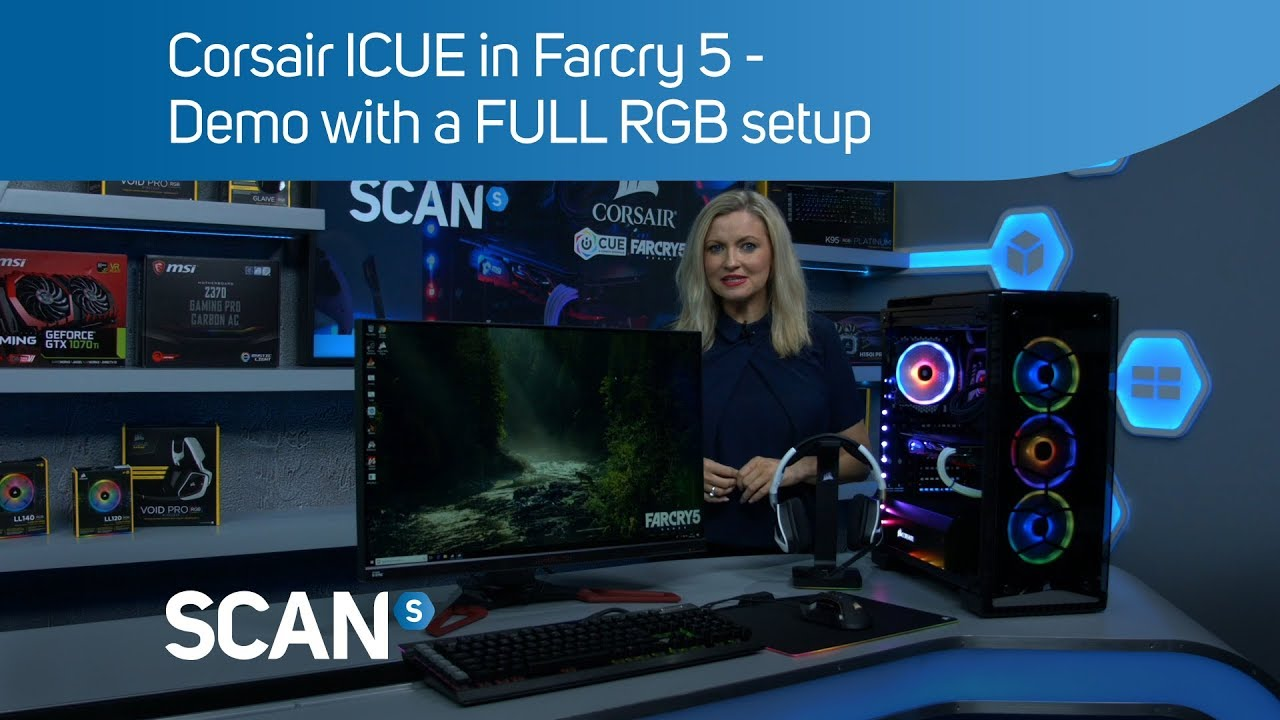 Corsair ICUE in Farcry 5 - Demo with a FULL RGB setup