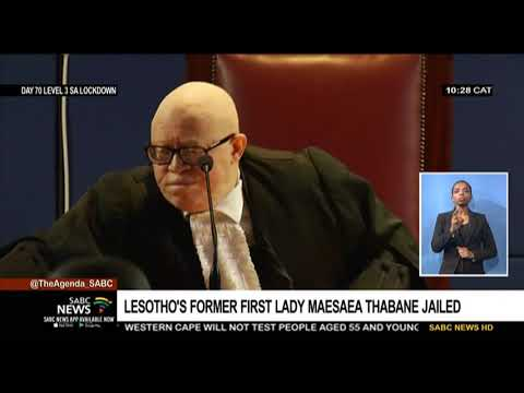 Lesotho's former first lady Maesaiah Thabane jailed