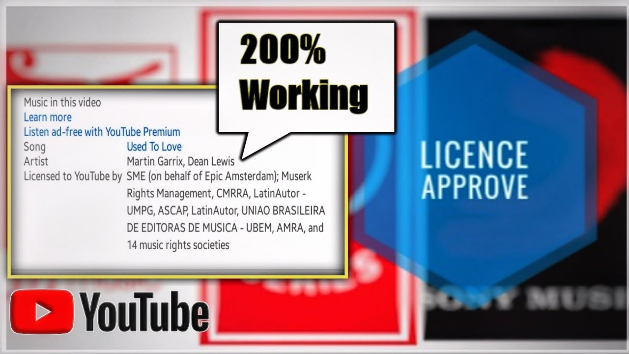 How To Get A Licence On Music From Youtube 200 Licence Approved Youtube