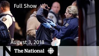The National for Friday August 3, 2018 — Asylum Seekers, Trump vs. Media, Yemen