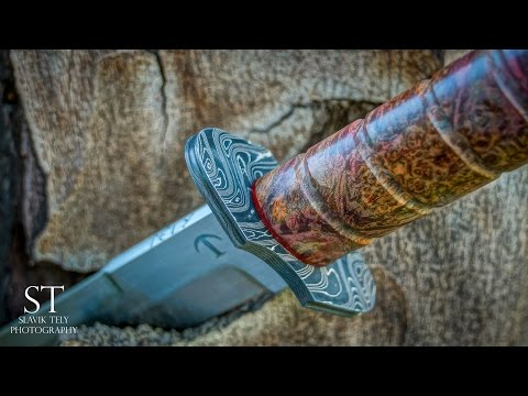 Making TANTO KNIFE-DAMASCUS Handguard and Pommel Part 2