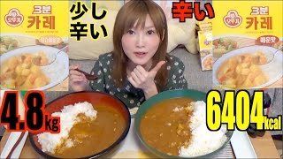 [MUKBANG] 10 Packs of Hot and Mild 3 Minute Curry From Korea! 4.8kg 6404kcal