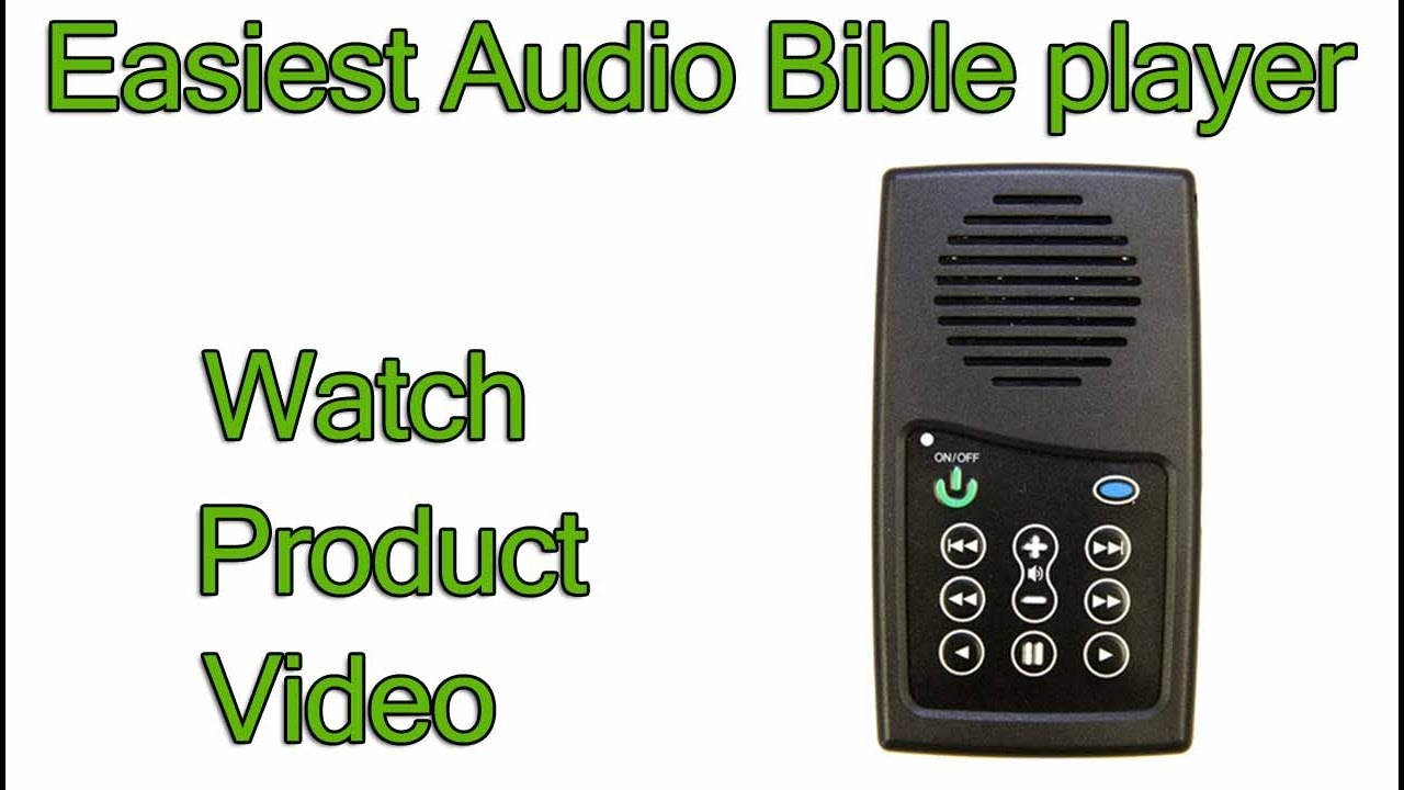Best Audio Bible player