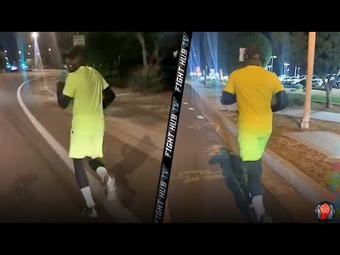 FLOYD MAYWEATHER LATE NIGHT RUN - NO DAYS OFF! PUTTING IN ROAD WORK TO STAY IN SHAPE