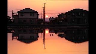 T-SQUAREの曲と一日の終わりを告げる夕焼けの写真をコラボしま...