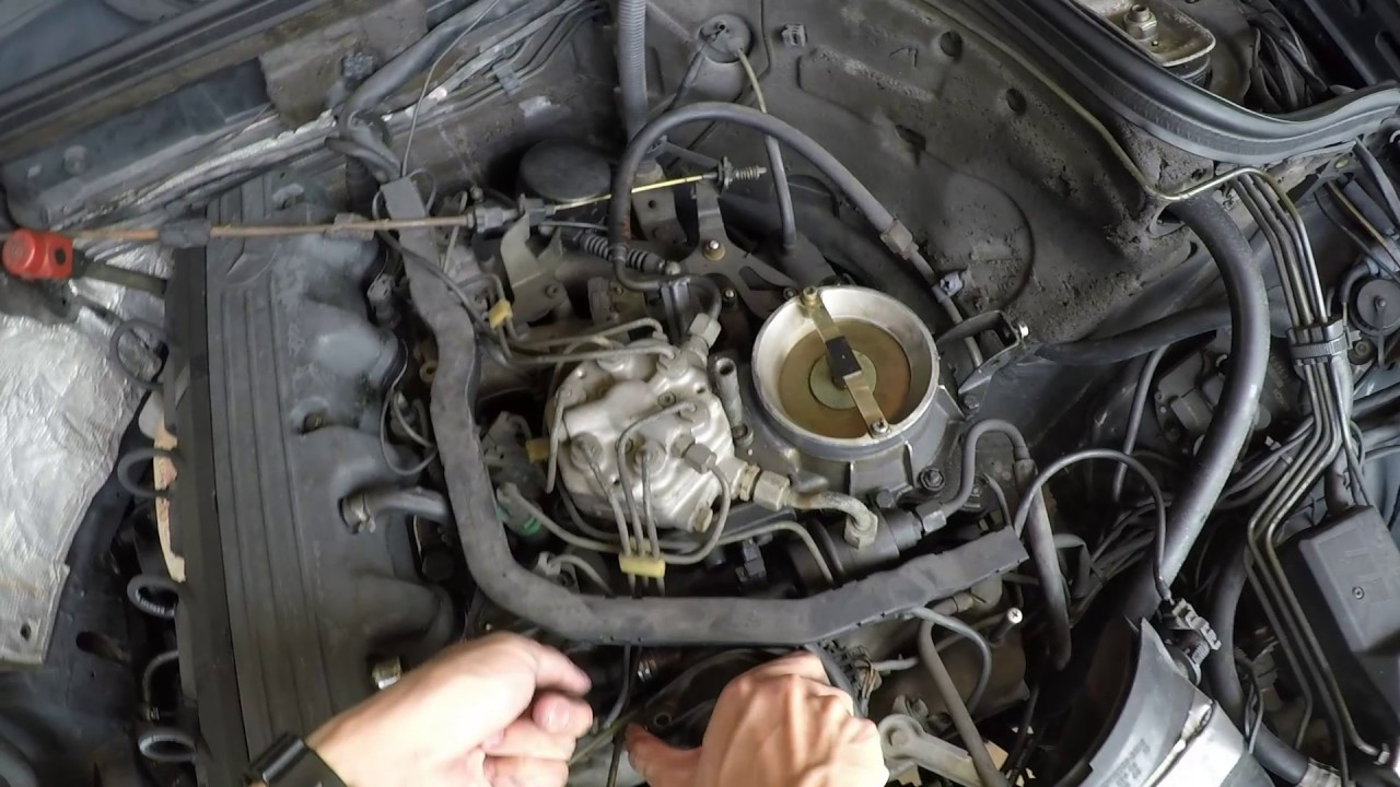 mercedes-benz 260e w124 m103 idle stalling problem - idle air control valve  cleaning