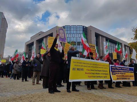 Brussels Demonstration against Iran regime's Terrorist Plots in Europe & violation of Human Rights i
