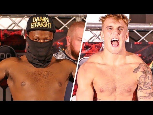 Deji vs Jake Paul KEPT APART | OFFICIAL WEIGH IN | Boxing