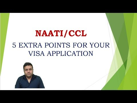How To Get 5 Points For Permanent Residency Using NAATI/CCL ?